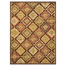 Halton Dark Brown / Rust Rug
