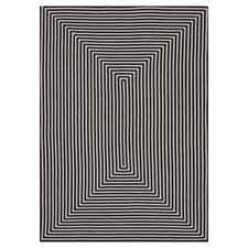 In & Out Black Area Rug