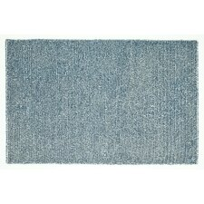 Happy Shag Denim Blue Solid Area Rug