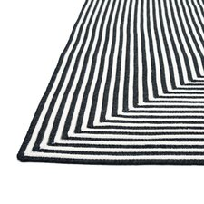 In/Out Black Area Rug