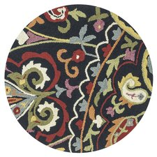 Juliana Black Area Rug