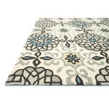 Francesca White Geometric Area Rug