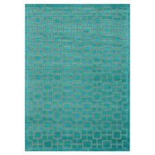 Halton Too Aqua Solid Area Rug