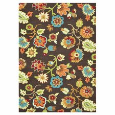 Juliana Floral Brown Area Rug