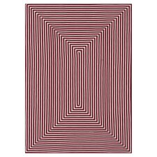 In/Out Red Area Rug