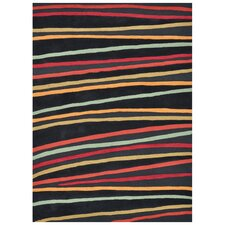 <strong>Loloi Rugs</strong> Aurora Black Striped Rug