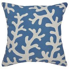 Coastal Coral 100% Linen Pillow