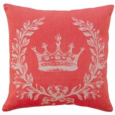 French Coral Crown 100% Linen Pillow