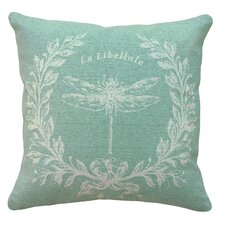French Dragonfly 100% Linen Pillow