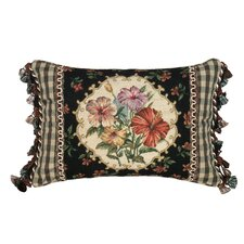 Hibiscus 100% Wool Petit - Point Pillow