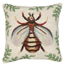 Bee 100% Wool Hook Pillow