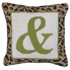 "<strong>123 Creations</strong> ""&"" Sign 100% Wool Hook Pillow"