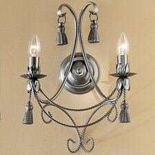 Rope and Tassel 2 Light Wall Sconce