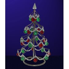 "<strong>Classic Lighting</strong> Cheryls 1' 4"" Red and Green Artificial Christmas Tree"