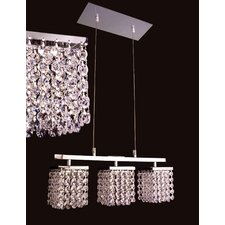 Bedazzle 3 Light  Linear Chandelier