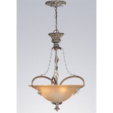 <strong>Classic Lighting</strong> Belleair 3 Light Inverted Pendant