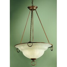 <strong>Classic Lighting</strong> Livorno 3 Light Inverted Pendant