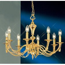 <strong>Classic Lighting</strong> Petit Paris 8 Light Chandelier