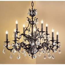 <strong>Classic Lighting</strong> Majestic 12 Light Chandelier