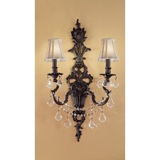 <strong>Classic Lighting</strong> Majestic Imperial 2 Light Wall Sconce