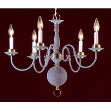 Classic Willaimsburgs 5 Light Chandelier
