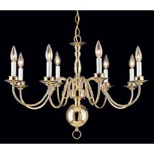 Classic Willaimsburgs 8 Light Chandelier