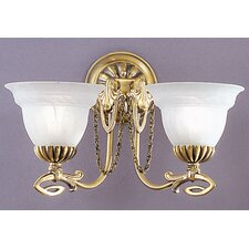 <strong>Classic Lighting</strong> Medallion 2 Light Wall Sconce