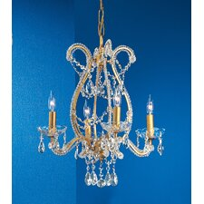 <strong>Classic Lighting</strong> Aurora 4 Light Chandelier
