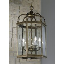 European 6 Light Outdoor Hanging Lantern