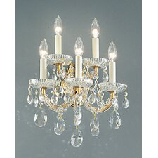 <strong>Classic Lighting</strong> Maria Thersea 5 Light Wall Sconce