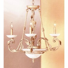 <strong>Classic Lighting</strong> Capri 5 Light Chandelier