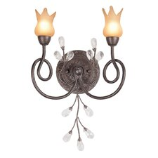 <strong>Classic Lighting</strong> Mandarin 2 Light Wall Sconce