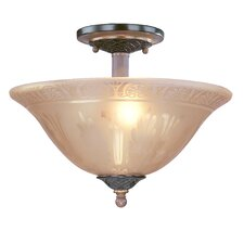 Vintage 2 Light Semi-Flush Mount
