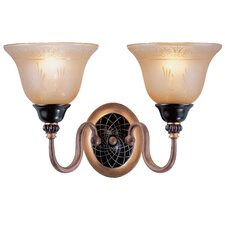 <strong>Classic Lighting</strong> Vintage 2 Light Wall Sconce