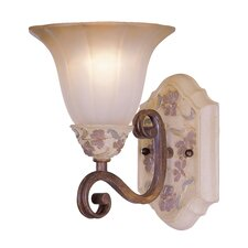 <strong>Classic Lighting</strong> Tapestry 1 Light Bath Vanity Light