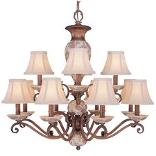 <strong>Classic Lighting</strong> Tapestry 12 Light Chandelier