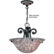 <strong>Classic Lighting</strong> Pearl River 3 Light Semi-Flush Mount