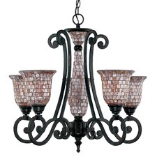 <strong>Classic Lighting</strong> Pearl River 5 Light Chandelier