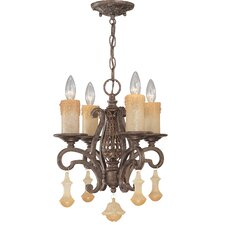 <strong>Classic Lighting</strong> Riviera 4 Light Mini-Chandelier