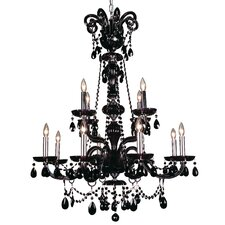 Monte Carlo Elite 12 Light Chandelier