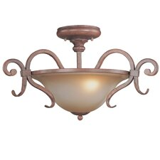 Eagle Pointe 2 Light Semi-Flush Mount