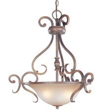 Eagle Pointe 3 Light Inverted Pendant