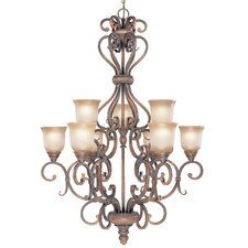 Eagle Pointe 9 Light Chandelier