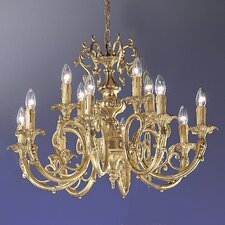 <strong>Classic Lighting</strong> Princeton 12 Light Chandelier