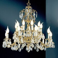 <strong>Classic Lighting</strong> Barcelona 18 Light Chandelier