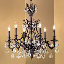 <strong>Classic Lighting</strong> Majestic 6 Light Chandelier