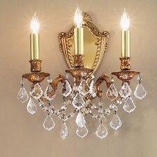 <strong>Classic Lighting</strong> Chateau Imperial 3 Light Wall Sconce