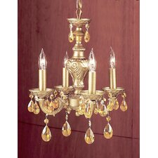 <strong>Classic Lighting</strong> Gabrielle 4 Light Mini-Chandelier