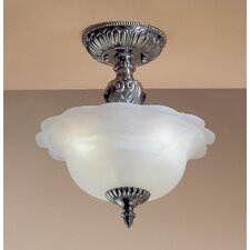 Victorian II 3 Light Semi-Flush Mount