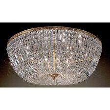 Crystal Baskets 20 Light Semi-Flush Mount